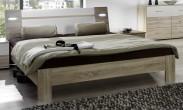 Vicenza - posteľ 140x200 cm (dub/alpská biela)