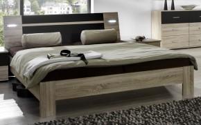 Vicenza - posteľ 140x200 cm (dub/lava čierna)