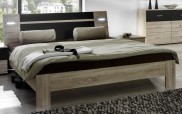 Vicenza - posteľ 160x200 cm (dub/lava čierna)