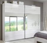 Vicenza - šatníková skriňa, 2x posuvné dvere (dub biely)