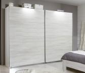 Vicenza - šatníková skriňa 3, 2x posuvné dvere (dub biely)