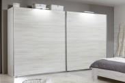 Vicenza - šatníková skriňa 4, 2x posuvné dvere (dub biely)