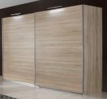 Vicenza - šatníková skriňa 4, 2x posuvné dvere (dub)