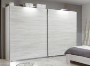 Vicenza - šatníková skriňa 5, 2x posuvné dvere (dub biely)