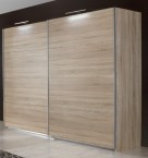Vicenza - šatníková skriňa 5, 2x posuvné dvere (dub)