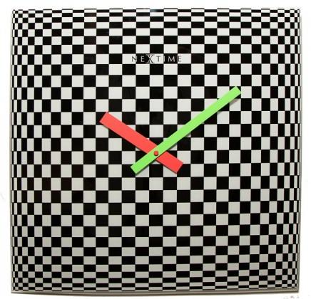Victor - hodiny, nástenné, hranaté (sklo, farebné)