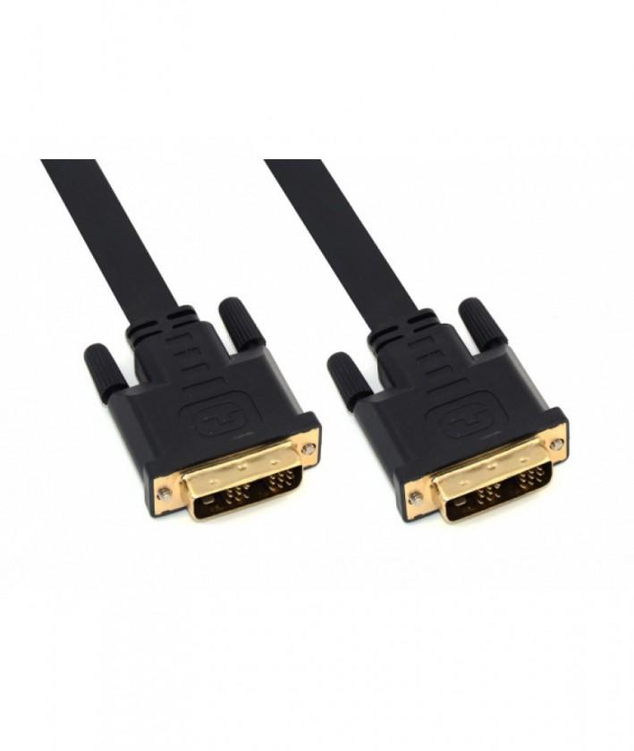 Video káble + konektory Apei Flat Ultra Series DVI-D- DVI-D, 1.8m (0634041590017)