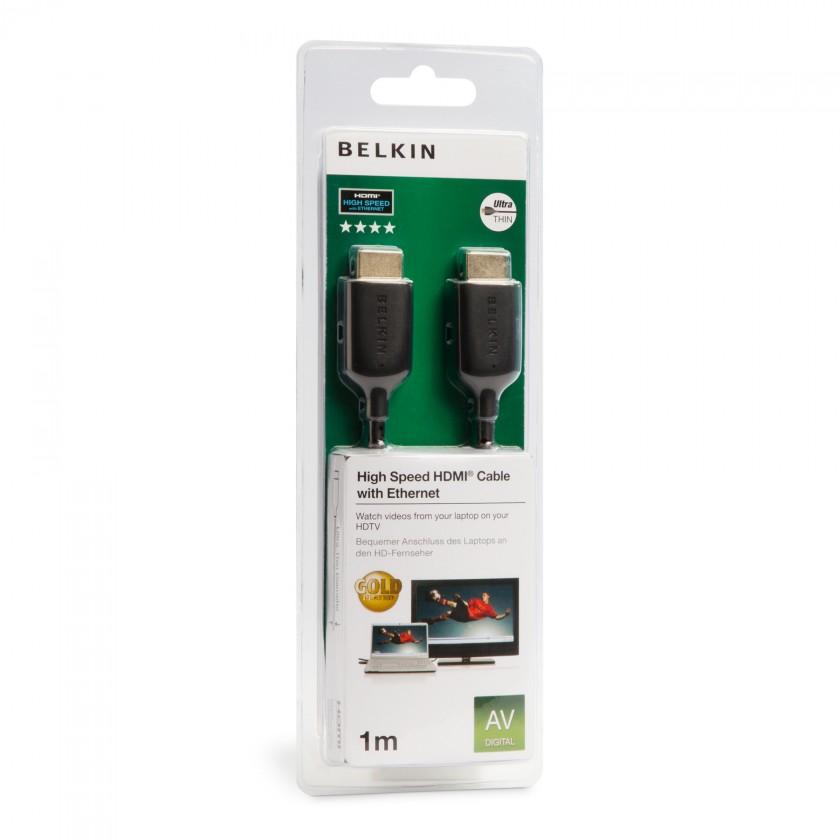 Video káble + konektory  Belkin HDMI kabel ultratenký 1m