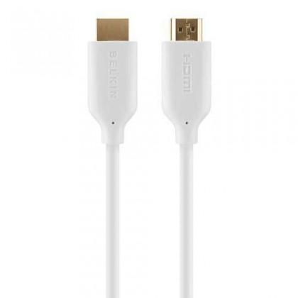 Video káble + konektory  Belkin kabel HDMI HighSpeed s Ethernetem, zlacený - 1m