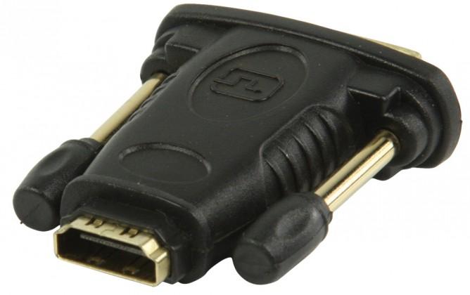 Video káble + konektory DVI-HDMI adaptér s konektory DVI zástrčka-HDMI vstup,čier POŠKODE
