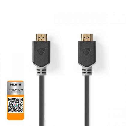 Video káble + konektory HDMI kábel Nedis CVBW34050AT20, vysokorýchlostné, 2.0, 2m