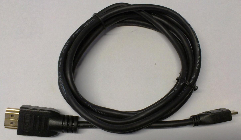 Video káble + konektory HDMI / mikroHDMI TV kábel MK Floria 1,8m