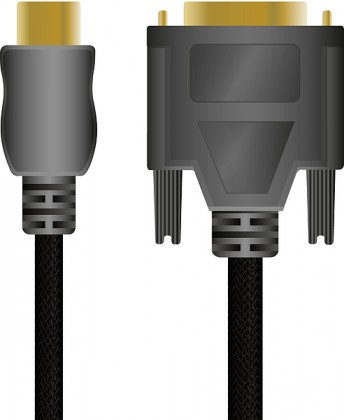 Video káble + konektory HDMI to DVI High End Cable - for PS3, black