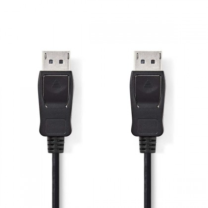 Video káble + konektory Kabel DisplayPort zástrčka NEDIS, černý,2m