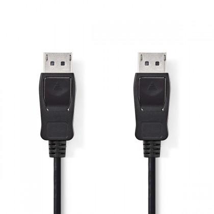 Video káble + konektory Kábel DisplayPort zástrčka NEDIS, čierny,2m