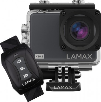 Videokamery Akčná kamera Lamax X10.1, 4K, 6ti osá stabilizácia + prísl.