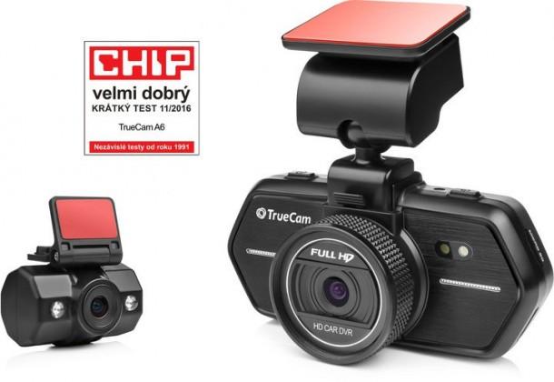 Videokamery Autokamera TrueCam A6, FULL HD, GPS, predné + zadné kamera