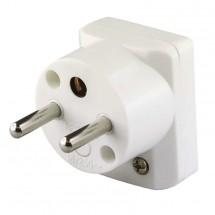 Vidlica uhlová pre predlžovací kábel Emos P0035, biela