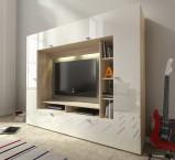 Vigo - Obývacia stena (dub sonoma/biela lesk)