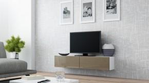 Vigo - TV komoda 140 (biela/latte lesk)
