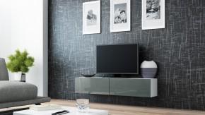 Vigo - TV komoda 140 (biela/šedá lesk)