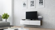 Vigo - TV komoda 140 (latte/biela lesk)