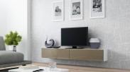 Vigo - TV komoda 180 (biela/latte lesk)
