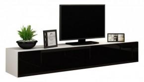 Vigo - TV komoda 180  (biela mat/čierna VL)
