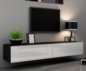 Vigo - TV komoda 180 (čierna mat/biela VL)