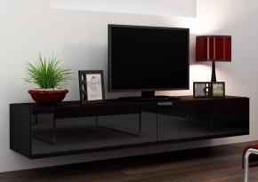 Vigo - TV komoda 180 (čierna mat/čierna VL)