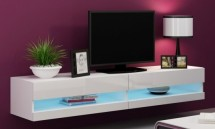Vigo - TV komoda 180 otvorená (biela mat/biela VL)