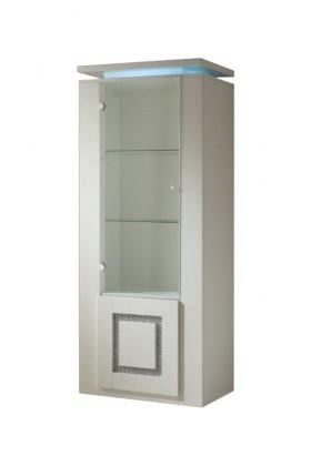 Vitrína Diva - Vitrína, 2x dvere (biela/diamant)