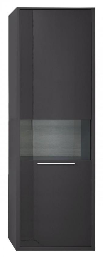 Vitrína Gamble - Vitrína 570128R (antracit/antracit lesk/panel dub sand)