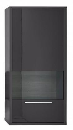 Vitrína Gamble - Vitrína 570148R (antracit/antracit lesk/panel dub tm)