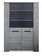 Vitrína Glen (2x dvere, figaro, betón)
