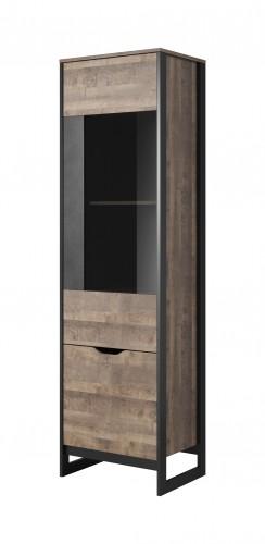 Vitrína Laura vysoká, 2 dvere s LED osvetlením