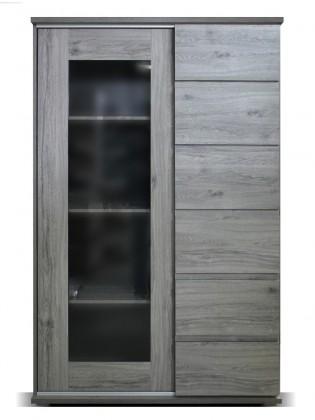 Vitrína Obývacia vitrína Holm (figaro, betón)