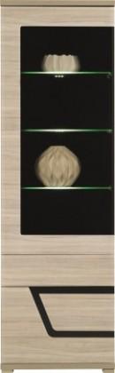 Vitrína Tes - Vitrína ľavá, dvere, police, LED (brest, korpus a fronty)