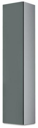 Vitrína Vigo - Vitrína závěsná 180, 1x dvere (biela/sivá lesk)