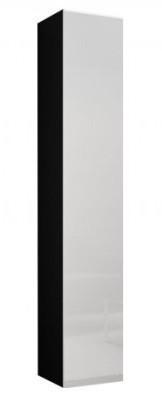 Vitrína Vigo - Vitrína závesná 180, 1x dvere (čierna mat/biela VL)
