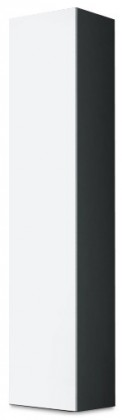 Vitrína Vigo - Vitrína závěsná 180, 1x dvere (sivá/biela lesk)