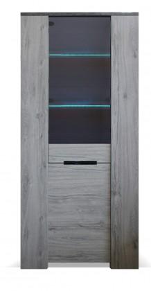 Vitrína Vitrína Glen (1x dvere, figaro, betón)