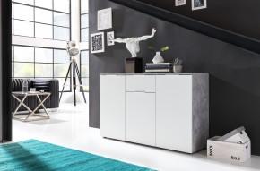 Viva - Obývacia komoda stredná (cement sivá/biela)