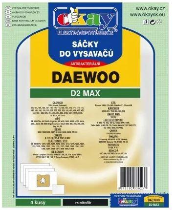 Vrecká do vysávača Daewoo D2MAX, 4ks