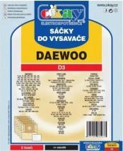 Vrecká do vysávača Daewoo D3, 5ks POŠKODENÝ OBAL