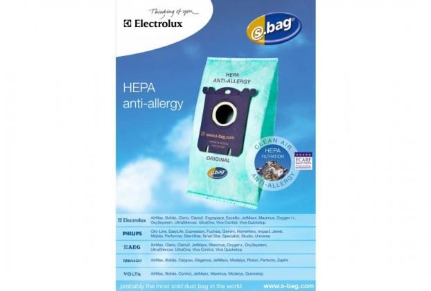 Vrecká do vysávača Electrolux originál Sbag E206B antialergénny 4ks ROZBALENÉ
