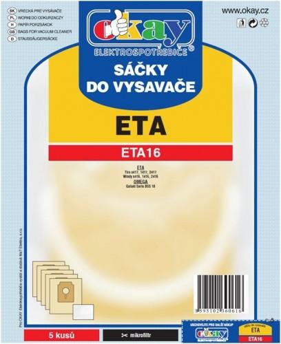 Vrecká do vysávača Eta ETA16, 10ks
