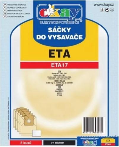 Vrecka do vysávača ETA17 5ks