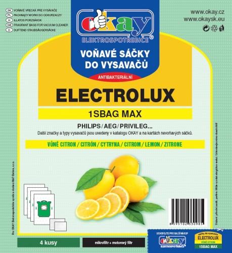 Vrecká do vysávača Jolly MAX1SBAG, vôňa citrón, 4ks