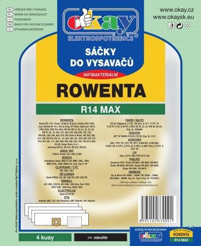 Vrecka do vysávača Rowenta R14 MAX 4ks